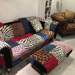 Animal Print Sofas White Sofa Beds On Gumtree London 3 Piece Suite Chair Leopard Urban Punk Rock Star Retro Chic