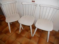 3 Painted Wooden Kitchen or Dining Chairs | in Llanishen ...