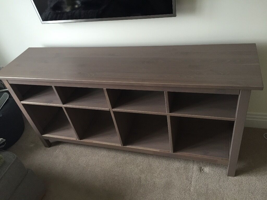 ikea gray brown sofa table red chesterfield 2 seater hemnes console for sale inc 4 black