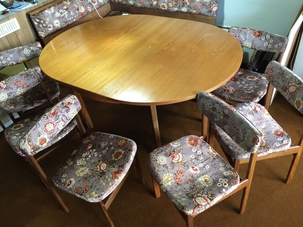 round dining table for 6 chairs vinyl bean bag solid wood 43 matching