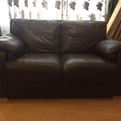 2 Seater Brown Sofa Leather Kids Settee In Chandlers Ford