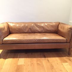 Retro Sofas Fulham Pink Leather Sofa Halo Brokeasshome