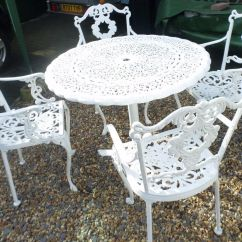 Antique Cast Iron Garden Table And Chairs Chair Covers Canada Lovely Old Metal 4 In