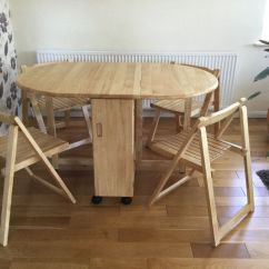 Rubberwood Butterfly Table With 4 Chairs Western Patio John Lewis Folding In Rubber Wood Very Good Condition