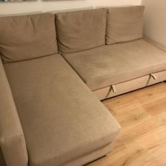 Friheten Corner Sofa Bed Skiftebo Beige Inclinable Chez Leon Free Delivery Ikea L Shaped