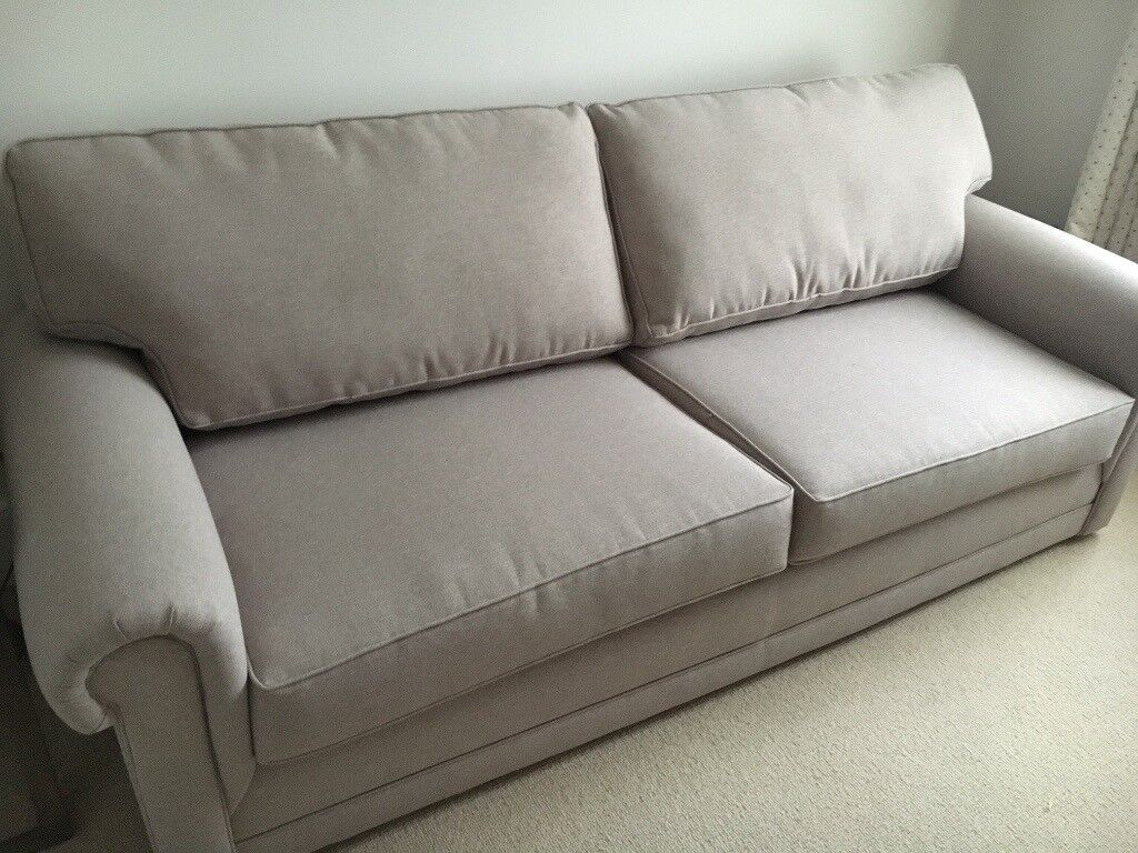 corner sofa bed london gumtree reclining with cup holders john lewis 3 seater in grey - immaculate ...