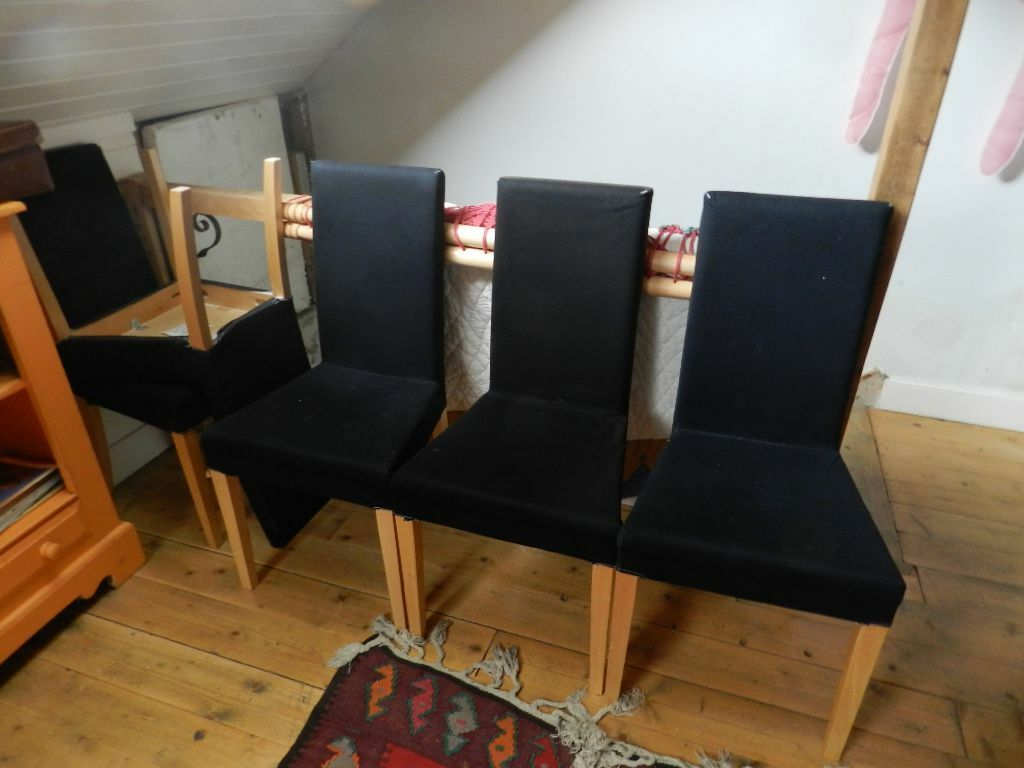 ikea tub chair covers uk rocking game 5 quotharry quot dining chairs with black removable
