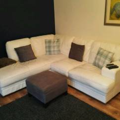 Leather Sofas Second Hand Glasgow Sofa Glam Velvet White Corner And Chair | In Robroyston ...