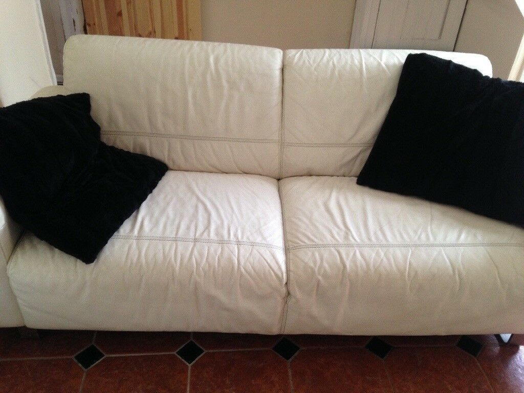 genuine leather sofa uk bernie and phyls tables off white in cardiff bay
