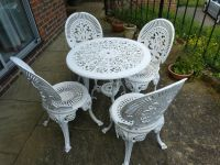 White Iron Garden Furniture