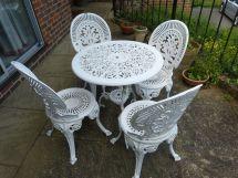 white cast iron garden furniture