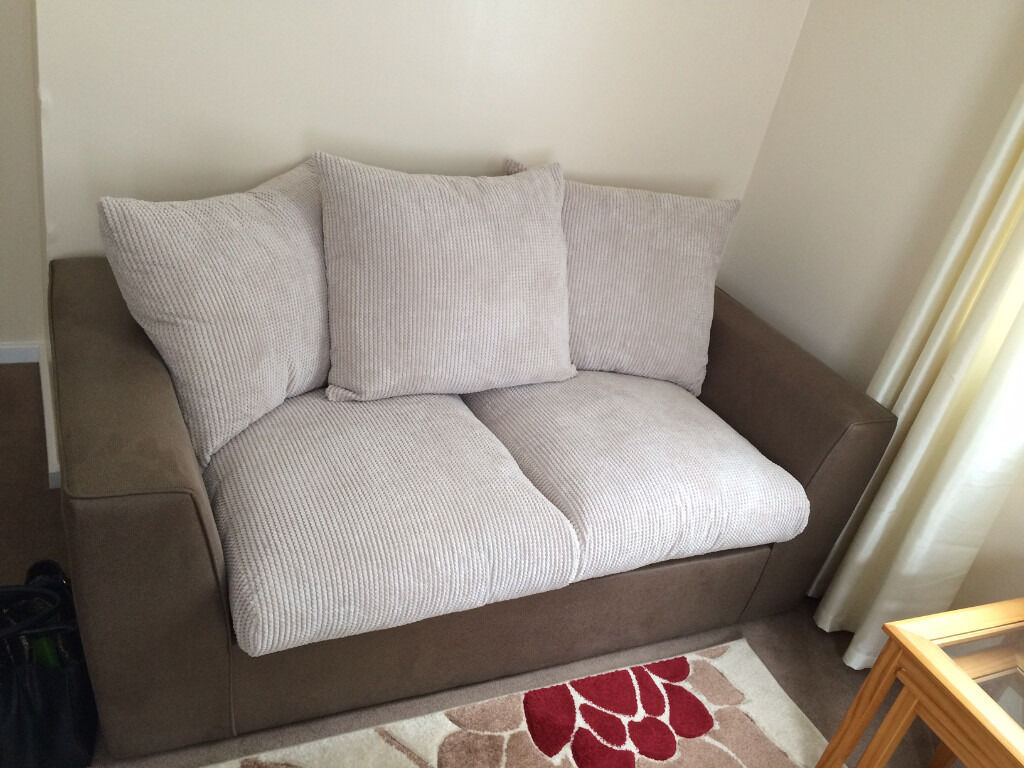 brown and beige sofa true modern new 2 seater small couch in ipswich