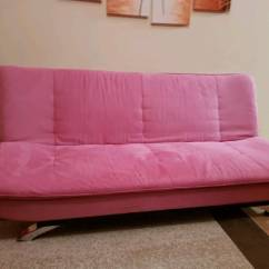 Sasha Sofa Bed Twin Sleeper Eames Sofabord Brugt Raspberry Pink In Preston Lancashire