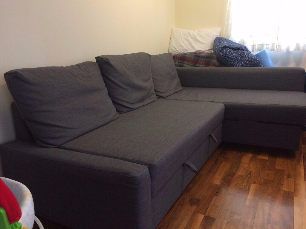 friheten corner sofa bed with storage skiftebo dark grey sectional vs and chairs ikea