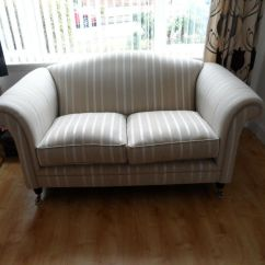 Grey Leather Chesterfield Sofa Dfs Kenton Fabric Bed Laura Ashley Striped | In Borrowstounness, Falkirk ...