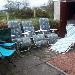 Folding Chair Job Lot Benahid Outdoor Rattan Papasan With Cushion Of Loungers And Chairs For Garden Or Camping 1 Each