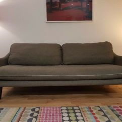 Retro Style Sofa Uk American Leather Convertible Habitat Mid Century Vintage For Sale