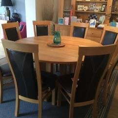 Round Oak Table And Chairs Kid Bean Bag Large Dining 8 In Chudleigh Devon