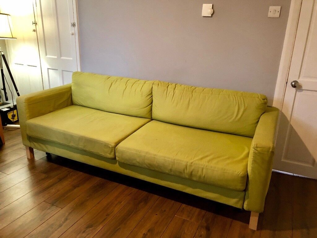 karlstad 3 seat sofa bed cover small sectional for spaces ikea seater very easy to use and