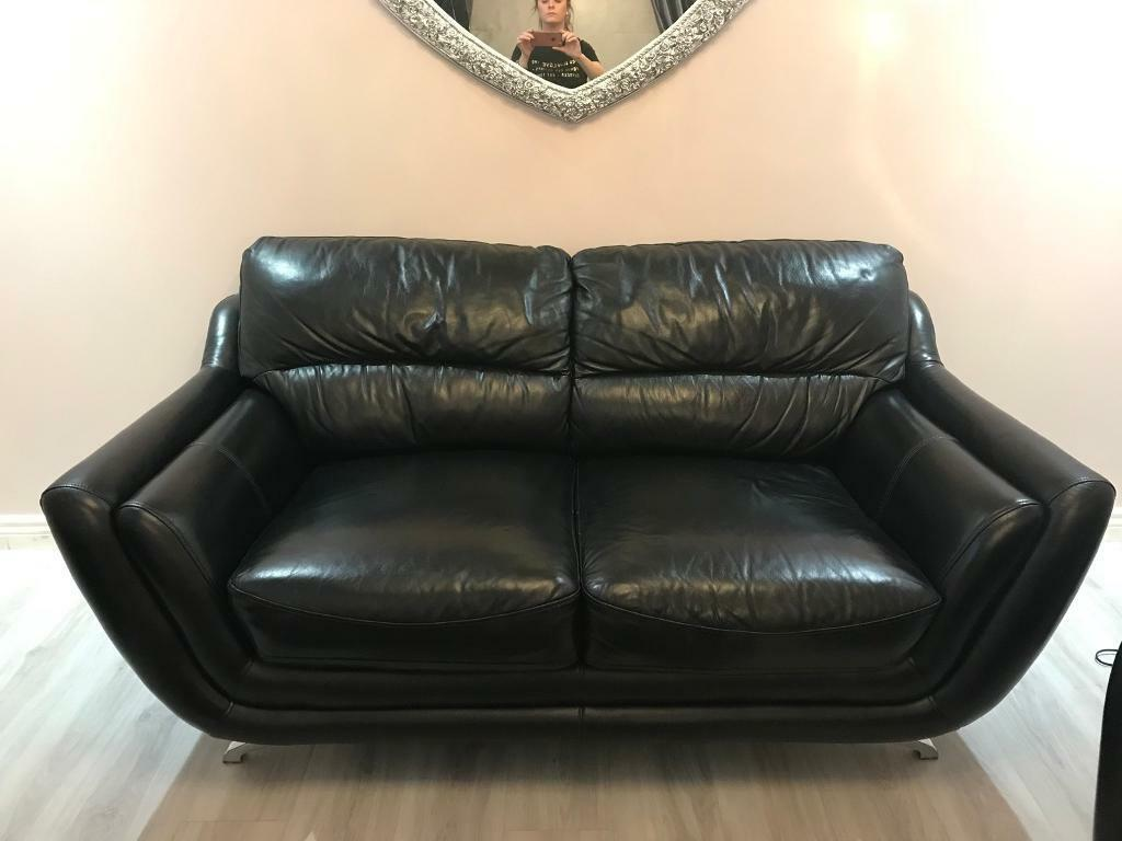 black leather sofas on gumtree down sofa sleeper 3 43 2 seater in glasgow city centre