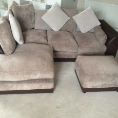 Brown And Beige Corner Sofa Blue Leather Modern Group Right Left Hand Grey