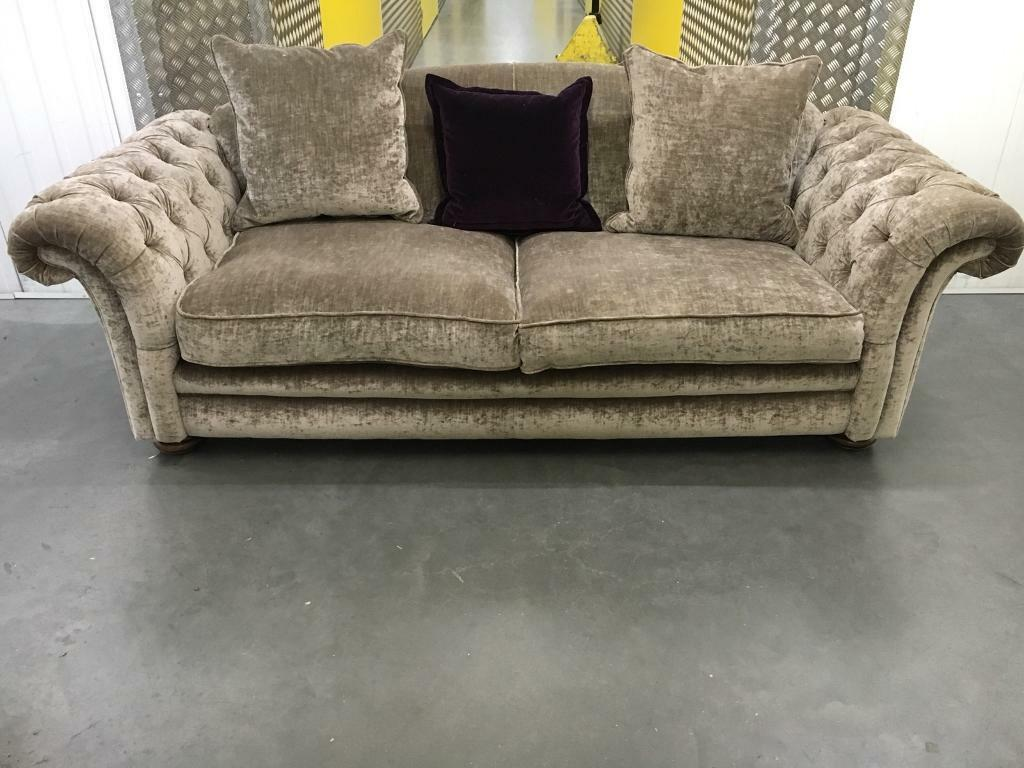 grey leather chesterfield sofa dfs moroso field system crushed velvet free delivery