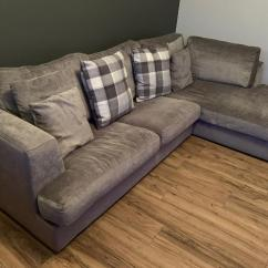 Corner Sofas Glasgow Gumtree Brown Microfiber And Leather Sectional Sofa With Ottoman By Acme Next In Southside