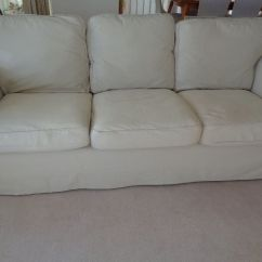 3 Seater Leather Sofa Dfs Hollywood Regency Tufted Ikea Ektorp In Beige   Elgin, Moray Gumtree