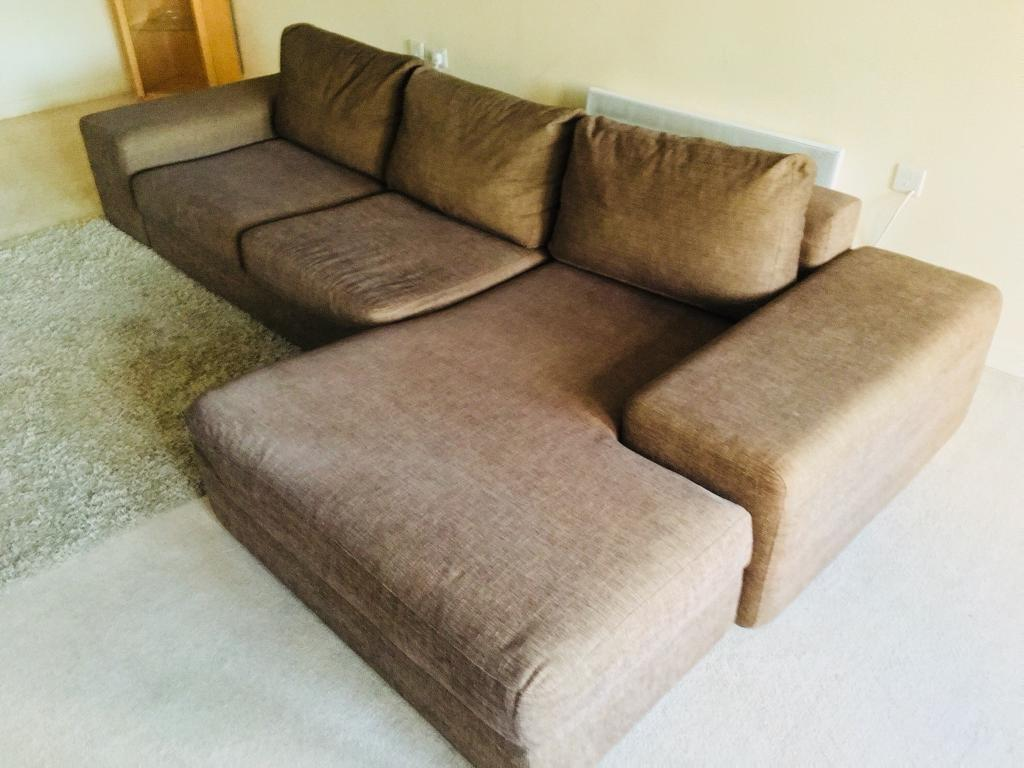 barker and stonehouse sofa protection red leather images corner brown fabric mint condition ilva