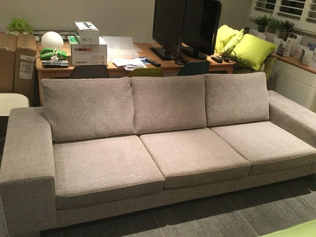 3 seater fabric sofa grey corner cheap uk boconcept cenova in poole