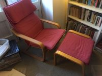 Ikea Poang armchair and footstool. Best reading chair ever ...