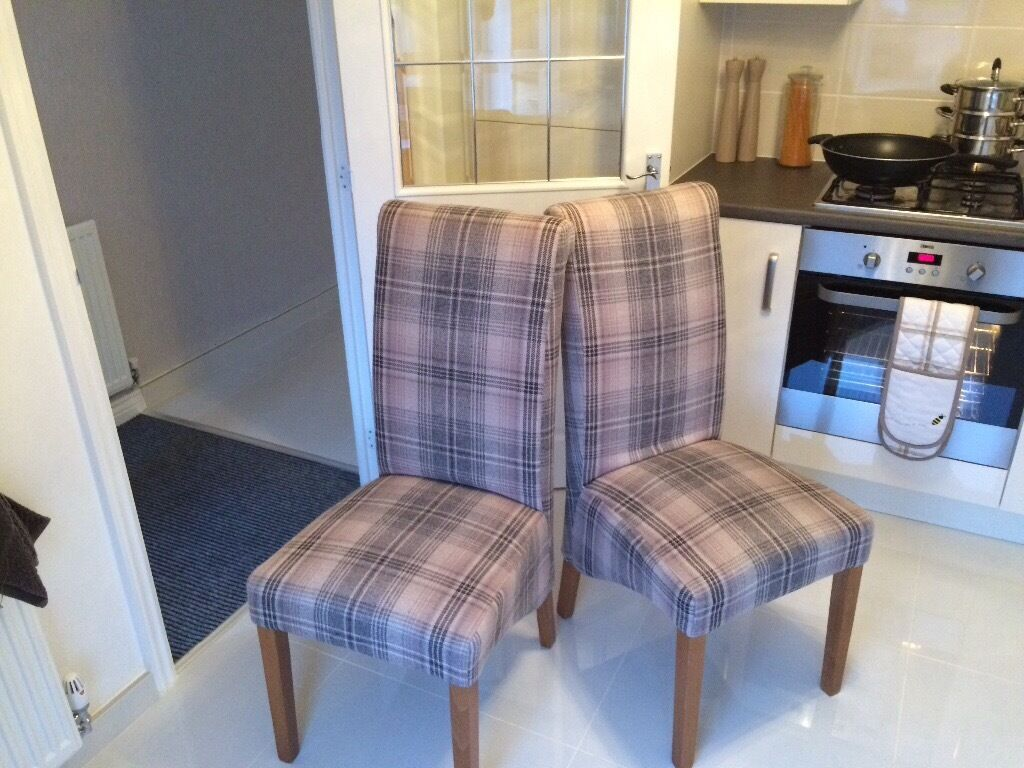 tartan dining chair covers for sale wedding dublin 2 next harlow check chairs quick in