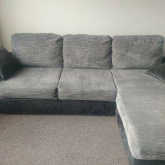 Gianni Corner Sofa Bed Review Iron Table Black Grey Cobra Faux Leather And Cord Very Good Condition Open For Offers