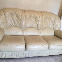 Leather Sofa Complaints Harris Tweed John Lewis Cream Set 3 Seater + 2 Matching Arm Chairs ...
