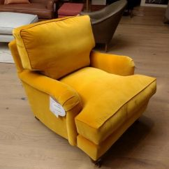 Bluebell Sofa Gumtree Costco Leather Savoy Armchair Best Selling In Canary Yellow Cotton Matt Velvet With Hypo Allergenic Cushions