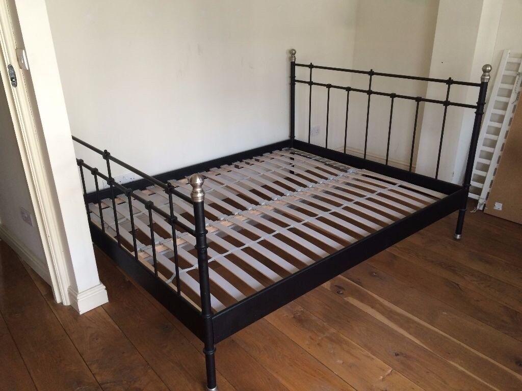 Ikea Svelvik Black Double King Bed Frame
