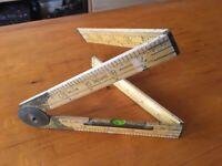 Folding Ruler With Spirit Level