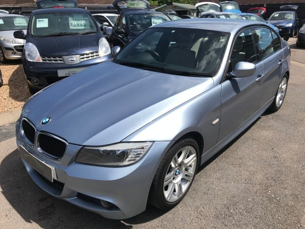 medium resolution of 2011 61 bmw 3 series 318d m sport 4dr blue full leather interior 1 previous owner service history