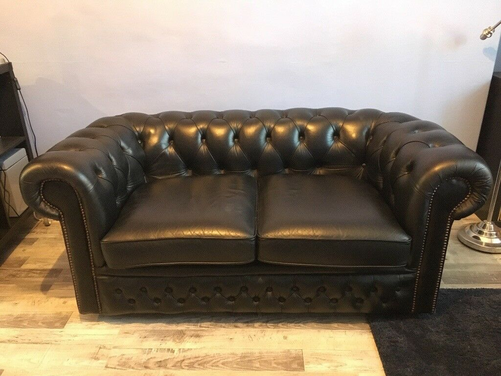 black leather sofas on gumtree catnapper recliner sofa chesterfield in langside glasgow