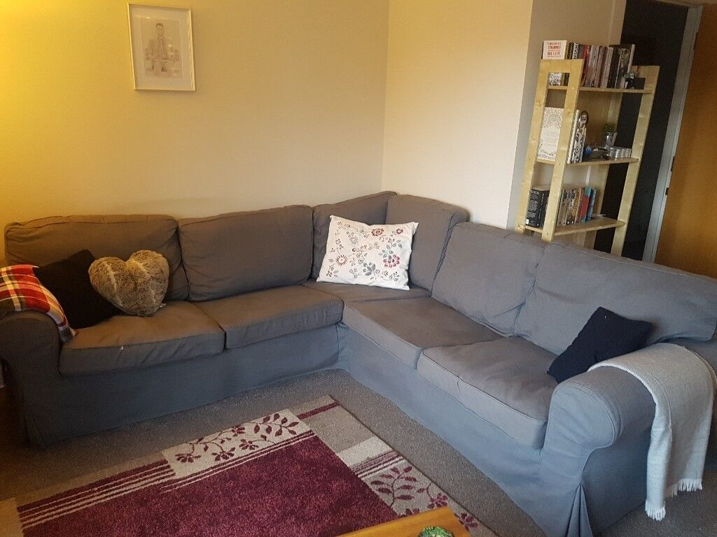 sofa glasgow suede sectional ecktorp ikea corner in west end
