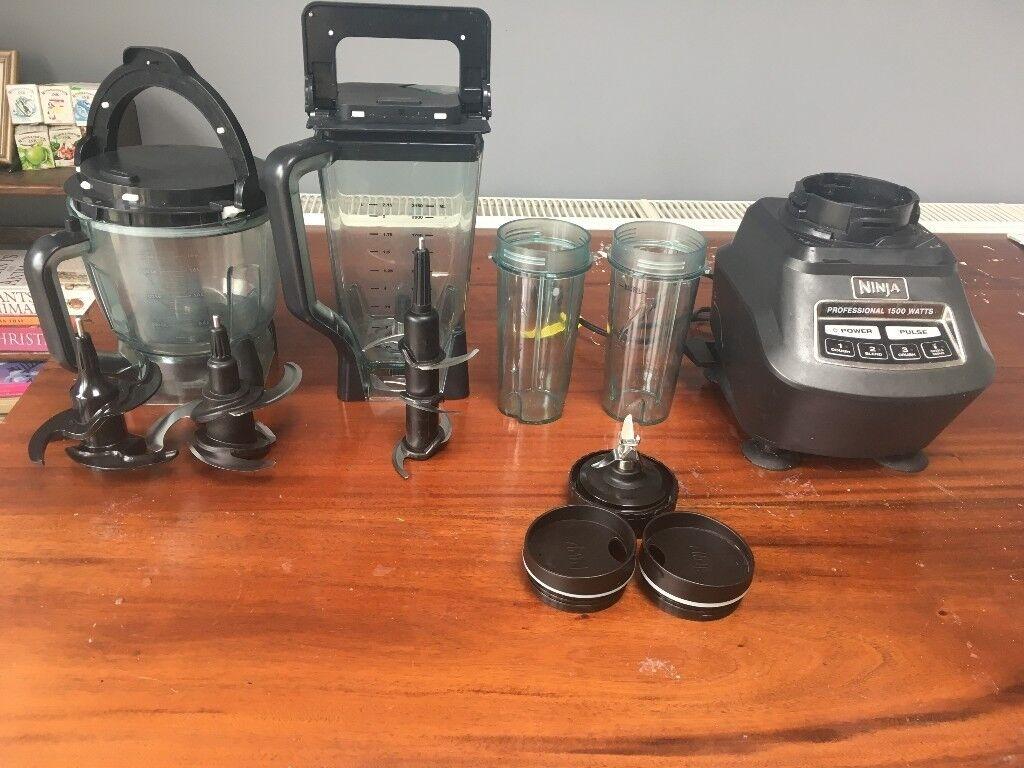 ninja mega kitchen 1500 vans system blender food processor and nutri cups