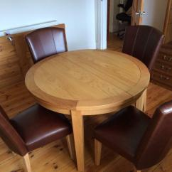 Copenhagen Dining Chairs Chair Noise Reduction Oak Extending Dinning Table With 4 Leather