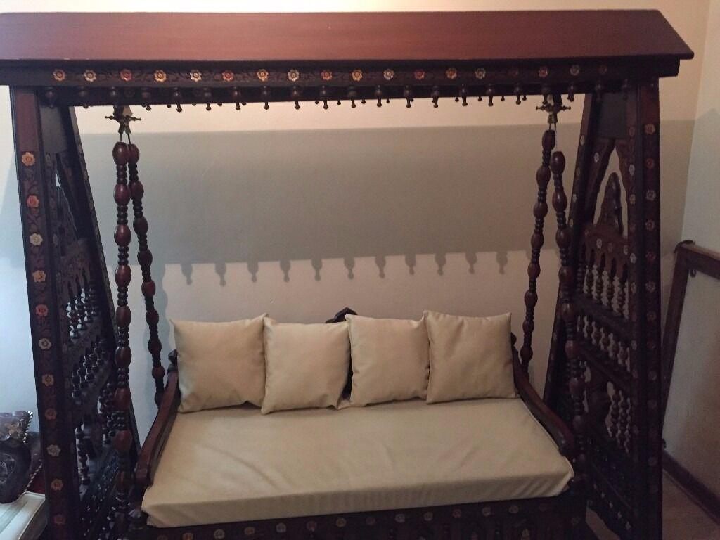 ikea poang rocking chair crosley griffith metal traditional pakistani indoor swing - jhoola | in heathrow, london gumtree