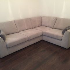 Dfs Corner Sofa Grey Fabric Estro Salotti Hyding Modern White Italian Leather Sectional For Sale Brand New 3 Months Used