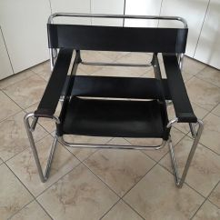 Leather Chrome Chair Loose Covers Ireland Wassily Reproduction Black And In Dunmow