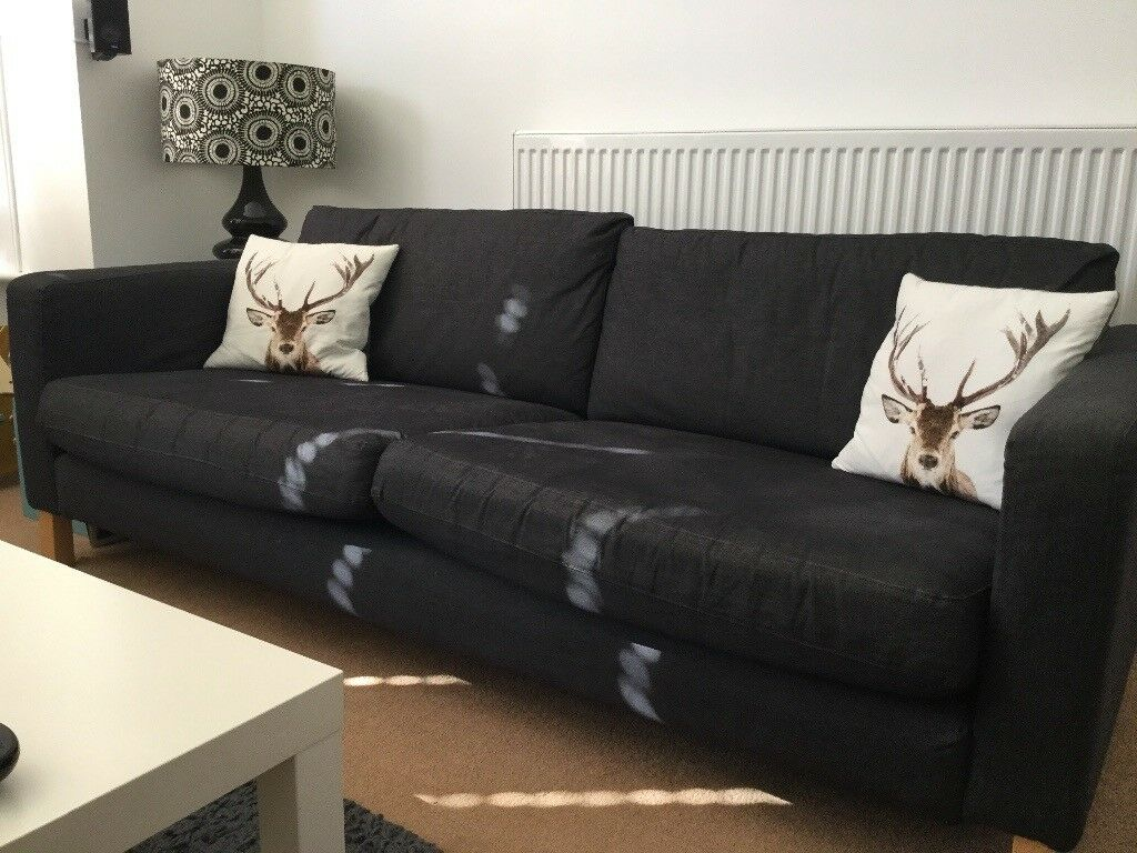 karlstad sofa for sale uk grey velvet ikea in southsea hampshire gumtree