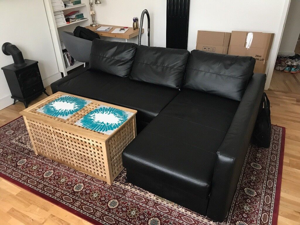 corner sofa bed west london how to remove ink from brown leather friheten with storage bomstad black in
