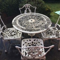 Metal Garden Table Chairs Extra Beans For Bean Bag White And In Banstead Surrey