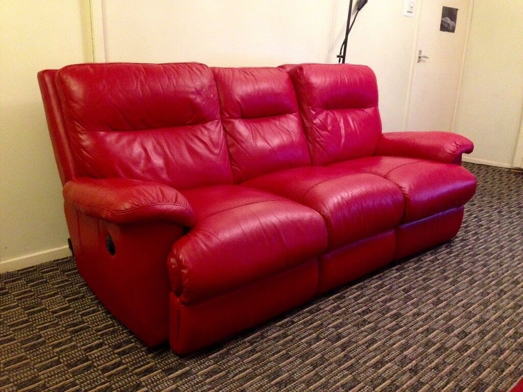sofa collection charity leicester bay window ideas delivery available 2 piece designer red electric