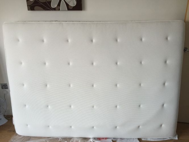 Ikea Hyllestad Pocket Sprung Firm Mattress With Memory Foam Layer Barely Used Spotless